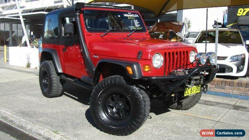 1999 Jeep Wrangler For Sale >> 1999 Jeep Wrangler Tj Sport 4x4 Red Manual 5sp M Softtop