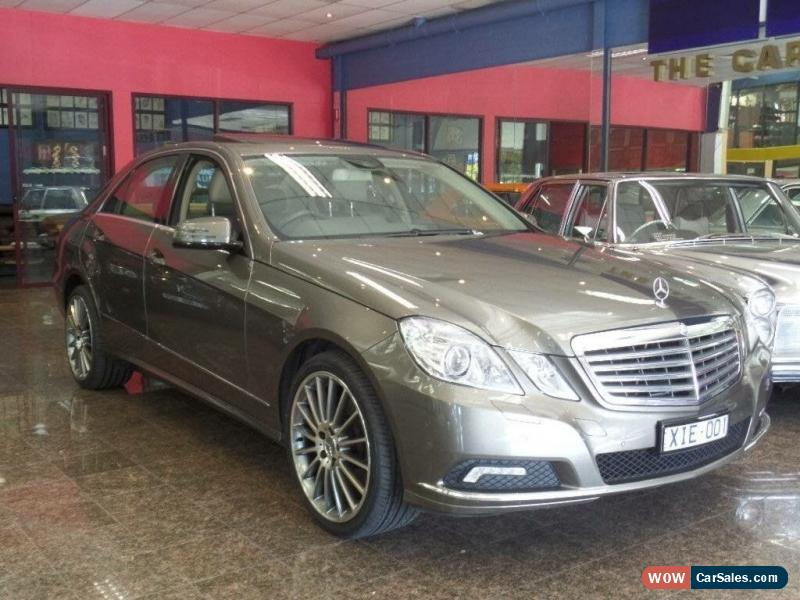 Classic 2009 Mercedes Benz E350 212 Elegance Indium Grey Automatic 7sp A  Sedan For Sale