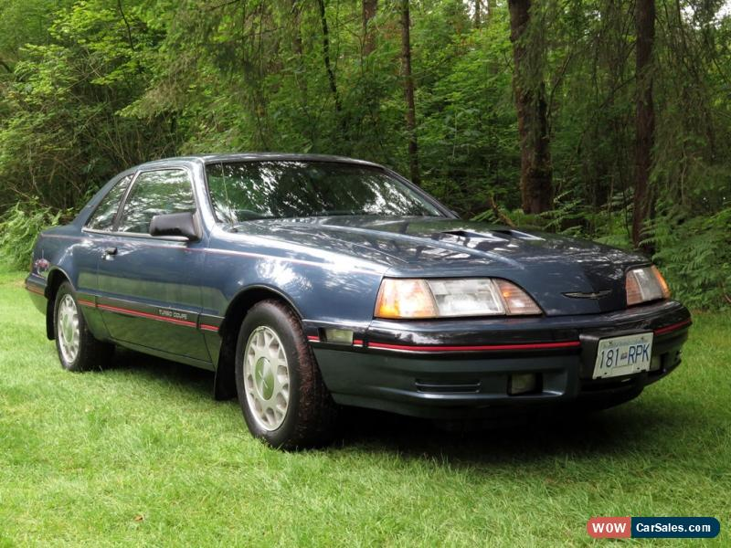 1987 ford thunderbird for sale in canada. Black Bedroom Furniture Sets. Home Design Ideas