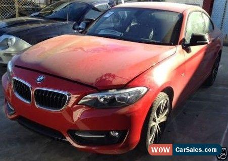 BMW 220D SPORT COUPE AUTOMATIC DAMAGED REPAIRABLE SALVAGE