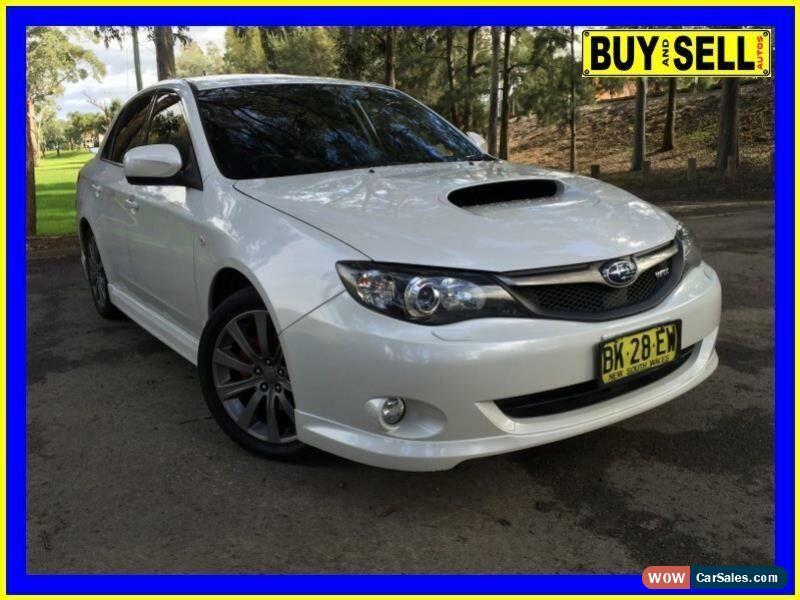 2010 Subaru Impreza My10 Wrx Awd White Manual 5sp M Sedan