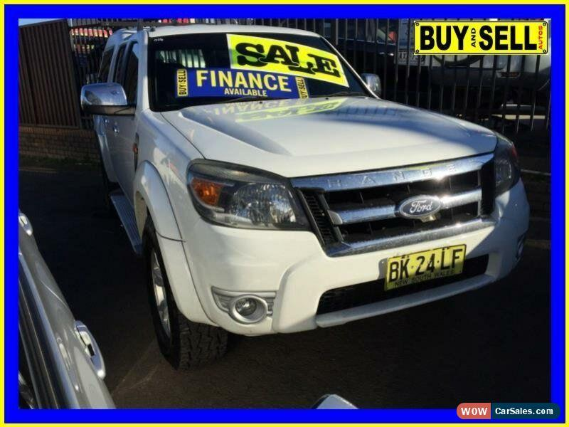 2011 Ford Ranger Pk Xlt 4x4 White Automatic 5sp A Dual Cab Pick Up