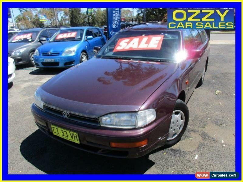 1995 Toyota Camry CS-X Plum Manual 5sp M Wagon