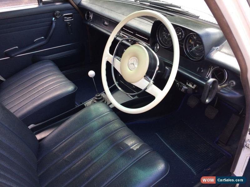 Mercedes 250 W114 1969 compact sedan drag race bagged classic ...