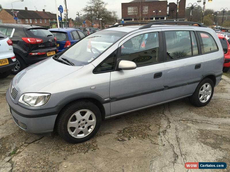 2003 vauxhall zafira elegance 16v for sale in united kingdom. Black Bedroom Furniture Sets. Home Design Ideas