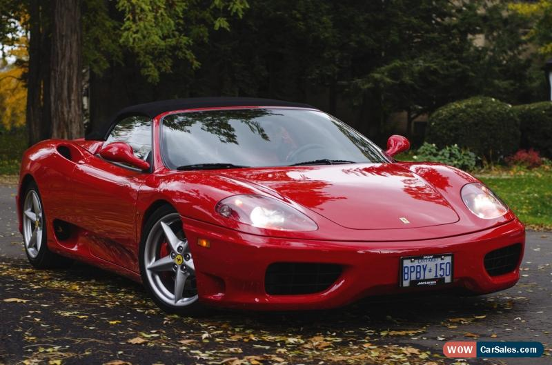 2002 ferrari 360 for sale in canada. Black Bedroom Furniture Sets. Home Design Ideas