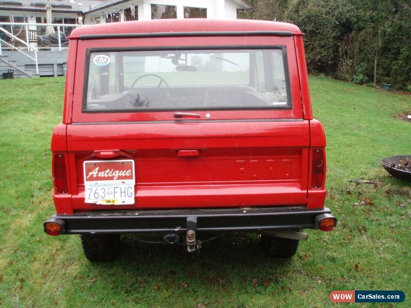 1966 Ford Bronco for Sale in Canada