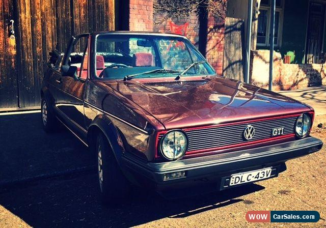 Volkswagen Cabriolet For Sale In Australia