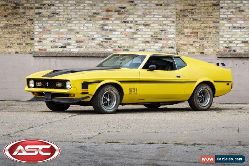 1972 Ford Mustang For Sale In United States
