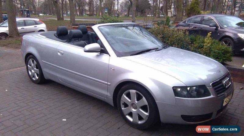 2003 audi a4 sport cabriolet auto for sale in united kingdom. Black Bedroom Furniture Sets. Home Design Ideas