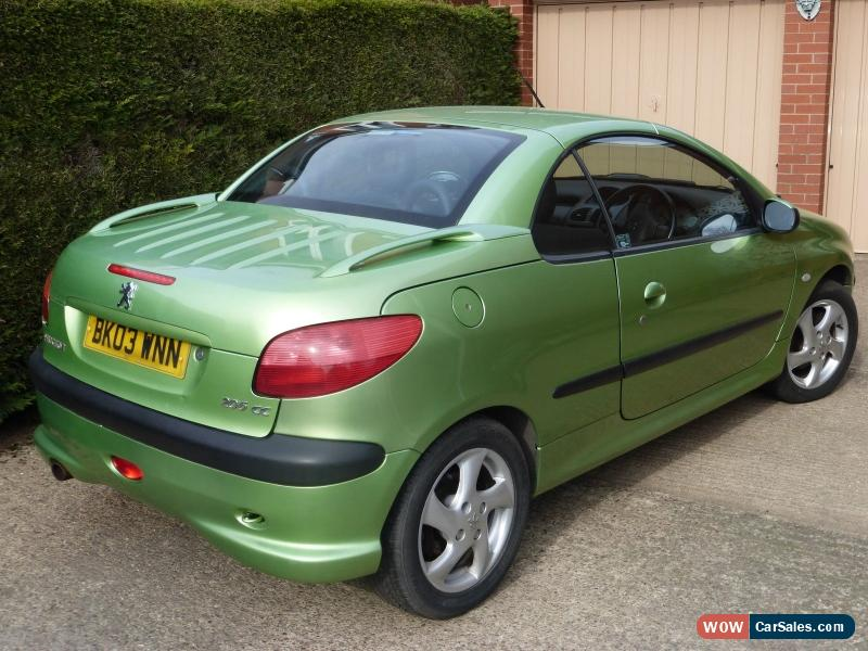 2003 peugeot 206 cc for sale in united kingdom. Black Bedroom Furniture Sets. Home Design Ideas