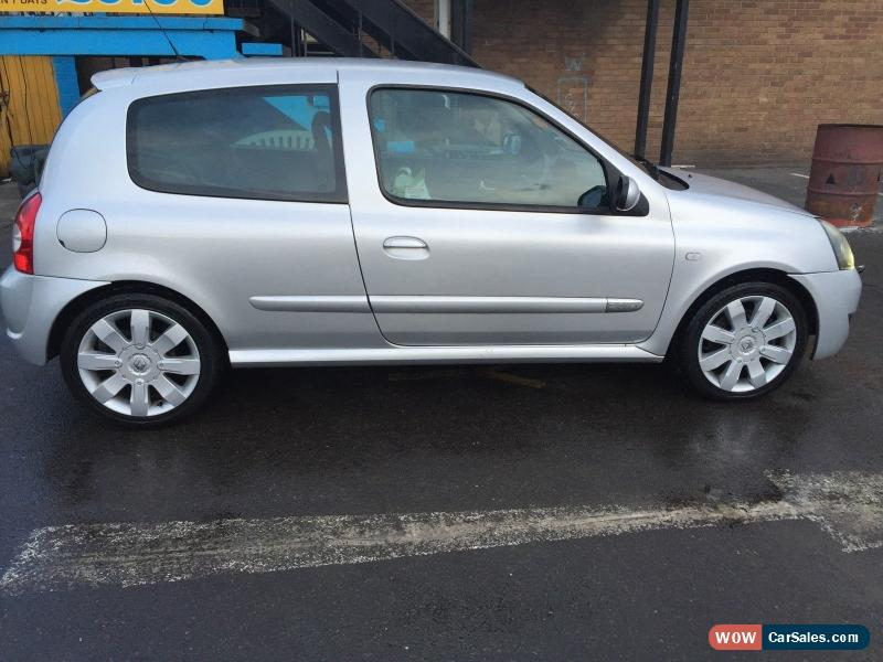 2004 renault clio renaultsport 182 16v for sale in united kingdom. Black Bedroom Furniture Sets. Home Design Ideas