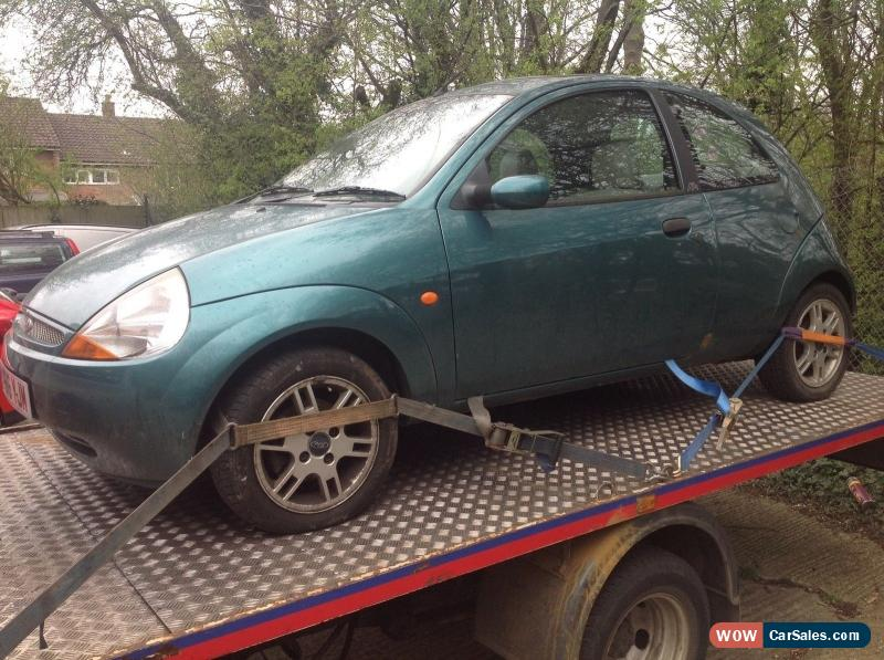 Classic  Ford Ka   Petrol In Green With Full Leather Interior Spares Or Repairs