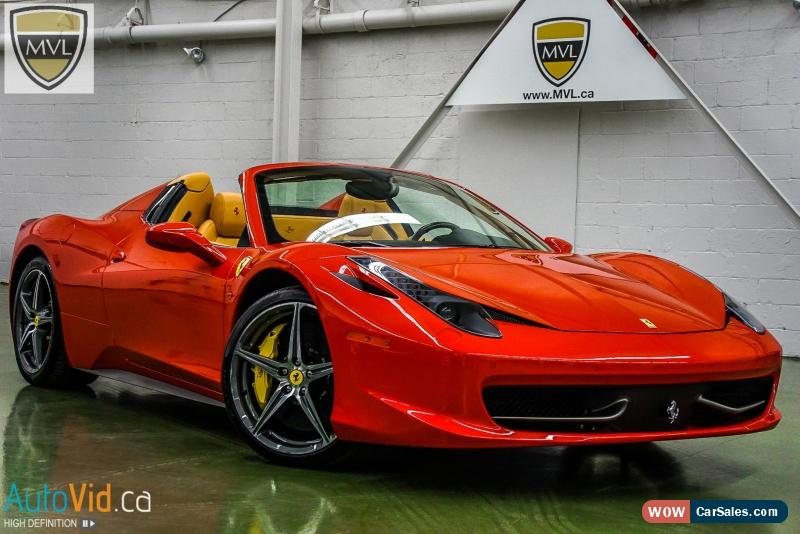 2014 ferrari 458 for sale in canada. Black Bedroom Furniture Sets. Home Design Ideas