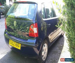 Classic 2002 VOLKSWAGEN POLO S BLUE for spares or repair for Sale