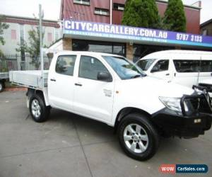 Classic 2011 Toyota Hilux KUN26R MY12 Workmate (4x4) White Manual 5sp M for Sale