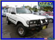 1991 Toyota Landcruiser (4x4) White Manual 5sp M Wagon for Sale