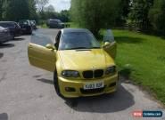 bmw e46 m3 low mileage. for Sale
