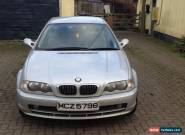 2002 BMW 320 CI SILVER for spares or repair for Sale