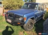 Toyota landcruiser Wagon G Pack 1985 Petrol/gas 5 Speed Has Rust 4x4 Runs Drives for Sale