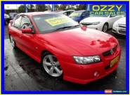 2005 Holden Commodore VZ SV6 Red Automatic 5sp A Sedan for Sale