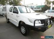 2011 Toyota Hilux KUN26R MY12 SR (4x4) White Manual 5sp M Dual Cab Pick-up for Sale
