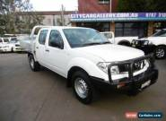 2012 Nissan Navara D40 MY12 RX (4x4) White Automatic 5sp A Dual Cab Chassis for Sale