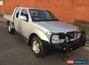 2010 Nissan Navara D40 ST-X (4x4) Silver Manual 6sp M KING CAB PUP for Sale