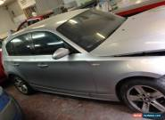 2005 BMW 120D SPORT SILVER FOR SPARES OR REPAIR BLACK LEATHER GOMERA CARBON for Sale