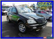 2003 Mercedes-Benz ML W163 350 (4x4) Black Automatic 5sp A Wagon for Sale