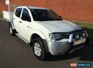 2011 Mitsubishi Triton MN MY11 GLX White Manual 5sp M Dual Cab Utility for Sale