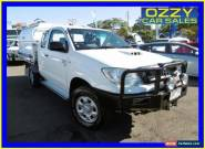 2010 Toyota Hilux KUN26R 09 Upgrade SR (4x4) White Manual 5sp M Extracab for Sale