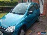 2001 VAUXHALL CORSA CLUB 12V BLUE for Sale