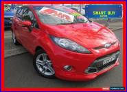 2011 Ford Fiesta WT Zetec Red Automatic 6sp A Hatchback for Sale