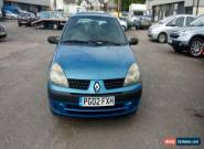 2002 RENAULT CLIO EXPRESSION 16V BLUE for Sale