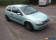 2001 VAUXHALL CORSA COMFORT 16V GREEN SPARES REPAIR for Sale