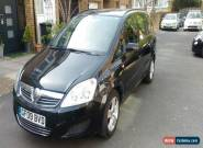 2009 VAUXHALL ZAFIRA EXCLUSIV CDTI A BLACK 1 YEAR MOT 53153 MilES ONLY for Sale