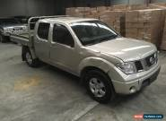 2011 NISSAN NAVARA D40 DIESEL 4X4 DUAL CAB 6SPD 116KM REPAIRABLE DAMAGED  DRIVES for Sale
