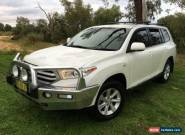 2013 Toyota Kluger GSU45R MY13 Upgrade KX-R (4x4) 5 Seat White Automatic 5sp A for Sale