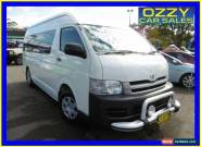 2009 Toyota Hiace KDH223R MY07 Upgrade Commuter White Automatic 4sp A Bus for Sale