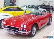 1962 Chevrolet Corvette Red Manual 4sp M Roadster for Sale