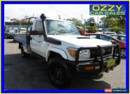 2008 Toyota Landcruiser VDJ79R GX (4x4) White Manual 5sp M Cab Chassis for Sale