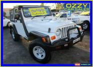 2005 Jeep Wrangler TJ Sport (4x4) White Manual 6sp M Softtop for Sale