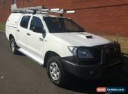 2011 Toyota Hilux KUN26R MY11 Upgrade SR (4x4) White Manual 5sp M for Sale