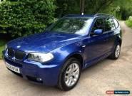 2008 BMW X3 2.0D M SPORT AUTO BLUE for Sale
