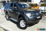 Classic 2011 Mitsubishi Triton MN MY12 GL-R 4X4 Charcoal Manual 5sp M Dual Cab Utility for Sale