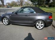 BMW 125I CONVERTIBLE SE Sport 2008 49k Absolutely pristine Auto I-drive satnav for Sale