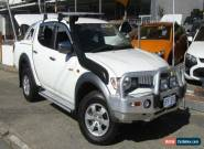 2008 Mitsubishi Triton ML MY09 GLX-R 4X4 White Automatic 4sp A Dual Cab Utility for Sale