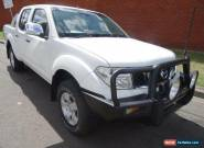 2007 Nissan Navara D40 ST-X (4x4) White Manual 6sp M Dual Cab Pick-up for Sale
