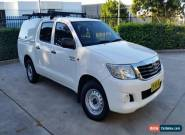 2012 Toyota Hilux GGN15R MY12 SR White Automatic 5sp A for Sale
